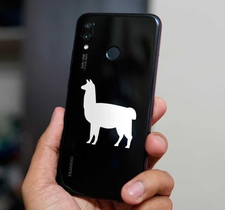 TenVinilo. Vinilo decorativo animal llama. Sticker para Huawei de un animal como es la llama pensada para aplicar en un dispositivo móvil. Atención al Cliente Personalizada.