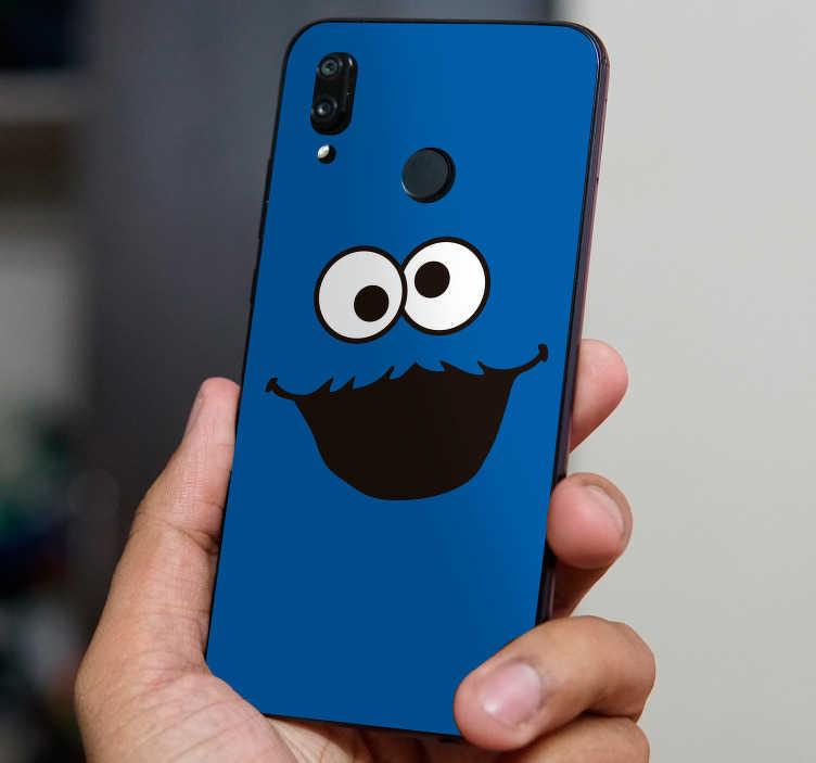 TenStickers. Sticker Personnage Visage de Monstre. Un autocollant de personnage monstrueux et adorable à la fois à appliquer sur le dos de votre smartphone, pour un cadeau original !