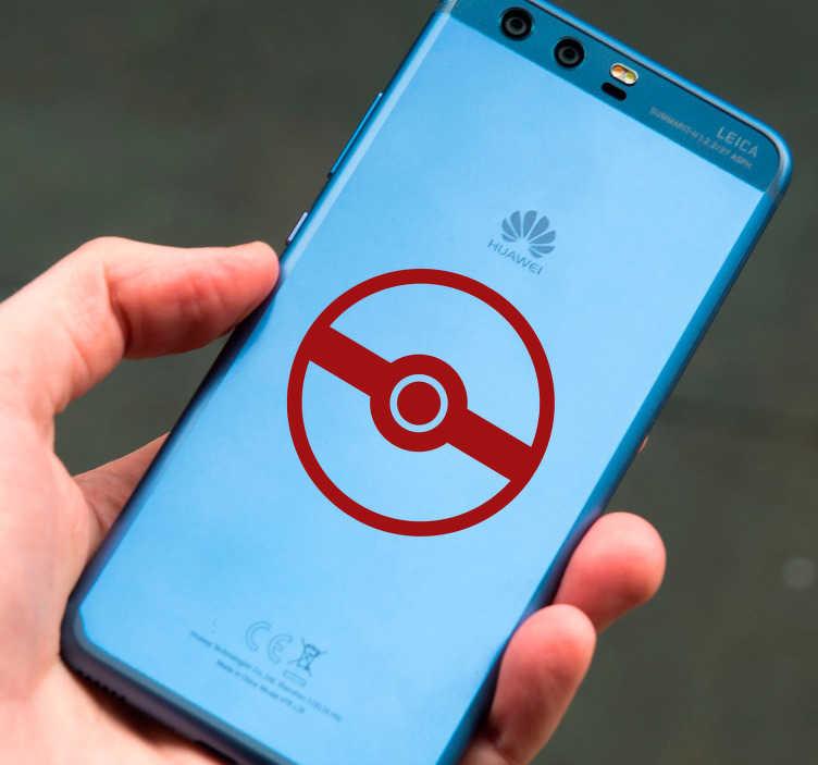 TenVinilo. Vinilo videojuego pokemon go. Sticker para móvil  con el dibujo de una Pokeball, uno de los elementos más importantes para cazadores de Pokemons. Compra Online Segura y Garantizada.
