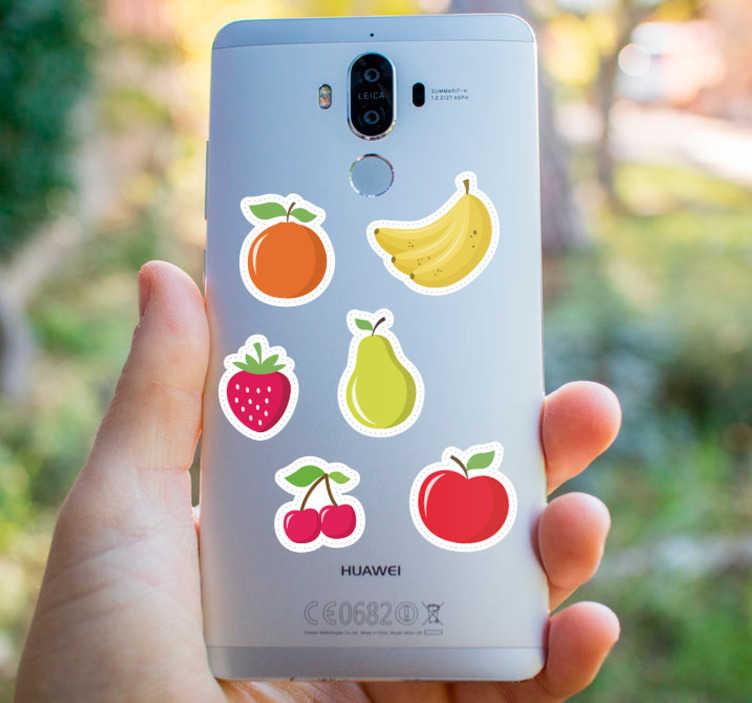 TenStickers. fruits soorten Huawei sticker. Leuke fruit mobiel sticker voor huawei! Leuke fruit huawei sticker. De huawei fruit stickers bevat aardbei huawei stickers en banaan huawei stickers!