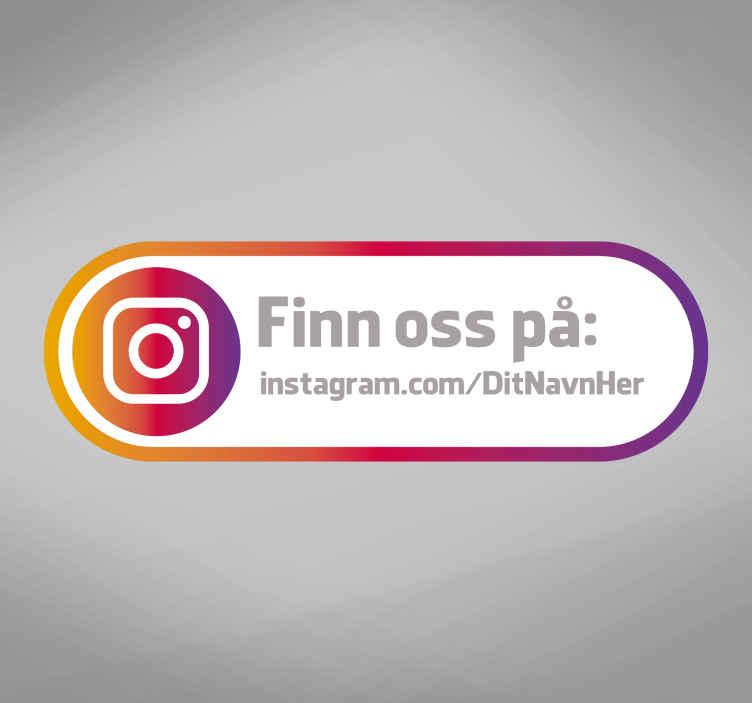 TenStickers. Find os instagram vindue klistermærke. Vores instagram shop vindue klistermærke er perfekt til din butik! Få flere tilhængere og kan lide med denne instagram vindue klistermærke til at vise dine produkter!