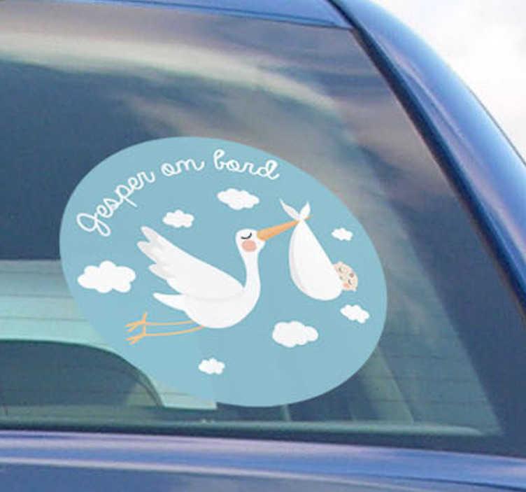 TenStickers. Fødselsbarn pojke klistermærke køretøj klistermærke. En sej baby ombord carsticker! Nyd denne baby er født klistermærke med alle dine venner og familie! Vores baby ombord klistermærke er meget nem at bruge!