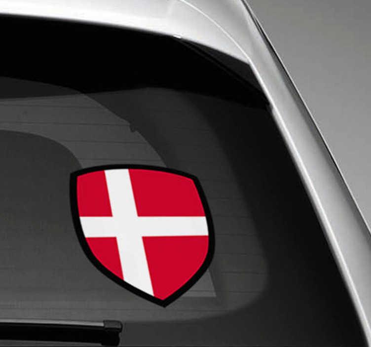 TenStickers. Denmark flag bil bil klistermærke. Interessant danmark bil klistermærke. Nyd vores danmark flag bil klistermærker i forskellige størrelser. Bil klistermærke danmark er let brugbar som bil vindue klistermærke!