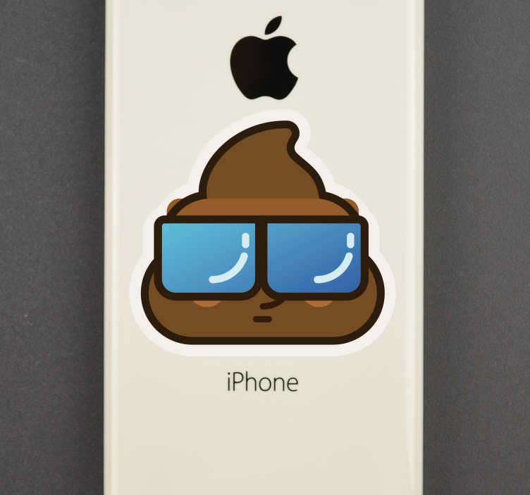 TenStickers. Poo Whatsapp iPhone Sticker. Looking for some unique and original phone stickers with which to decorate that iPhone? Well then this iPhone sticker might just do the trick!
