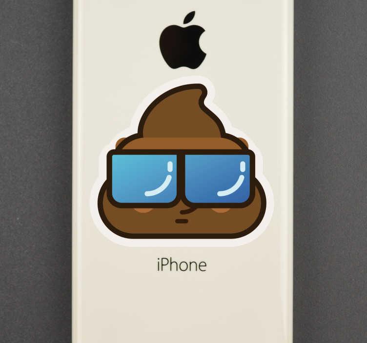 TenStickers. drol emoji iPhone sticker. Grappig drol emoji mobiel stickers. iPhone whatsapp sticker: Grappige drol emoij iPhone stickers, iphone poep emoji stickers en iPhone emoji stickers!