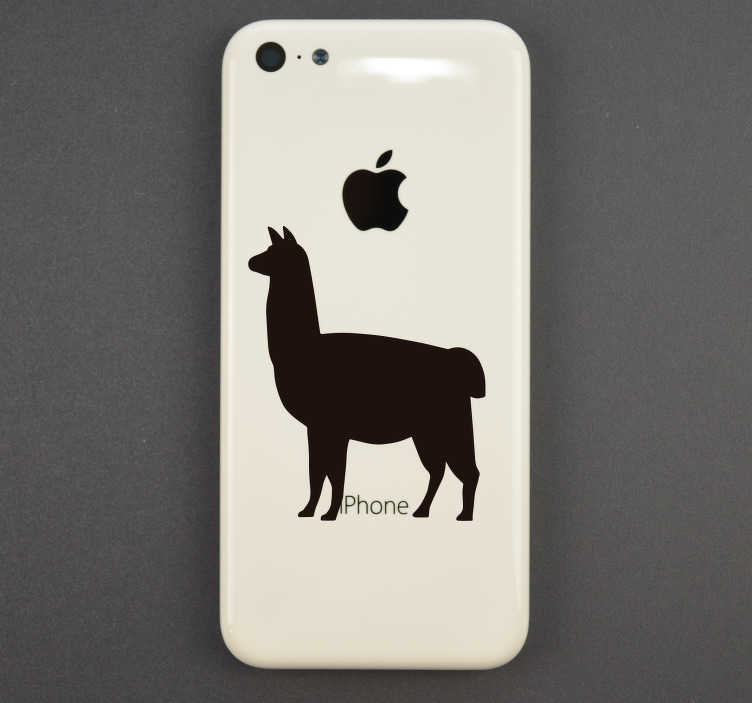 TenStickers. Llama iPhone Animal Wall Sticker. Add a llama to your iPhone with this fantastic silhouette sticker, depicting that very animal and perfect for iPhone! Extremely long-lasting material.