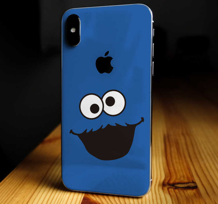 TenStickers. Koekiemonster iPhone sticker. Schattige koekiemonster mobiel stickers voor iPhones. Gezellige koekiemonster iPhone sticker. iphone koekiemonster stickers, een leuke iPhone sticker!