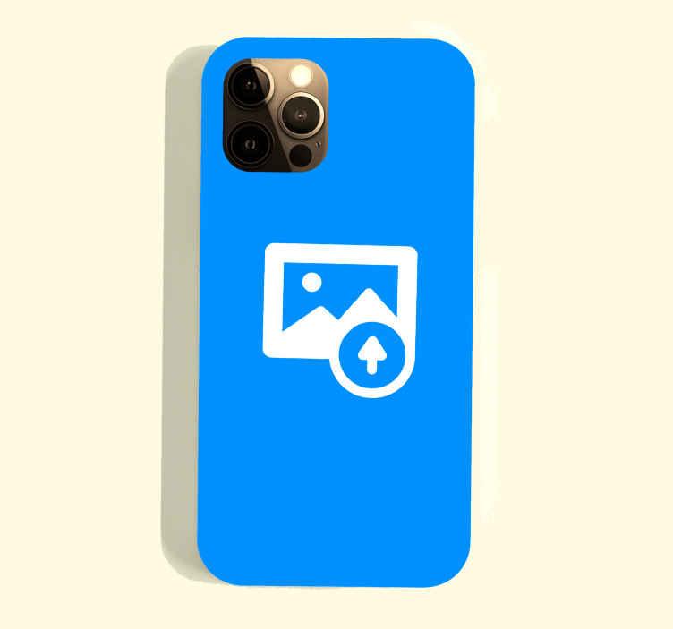 TenStickers. Sticker de Photo Personnalisée. Quoi de mieux pour donner une touche de personnalité à votre téléphone portable iPhone qu'un sticker 100% personnalisé prévu à cet effet ?