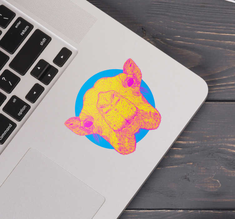 TenStickers. Portable camel laptop skin. Animal laptop sticker to beautify the working space of a laptop . Choose it in nay desirable size and it is easy to apply.