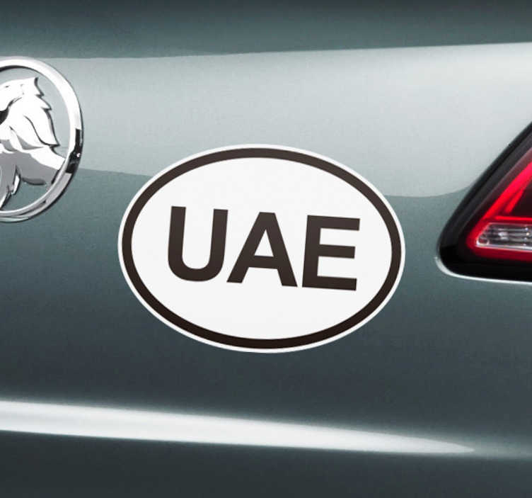TenStickers. UAE  Car Decal. A car vinyl decal with UAE design. Chose it in any required size to decorate the surface of any vehicle. Usable on all flat surface.