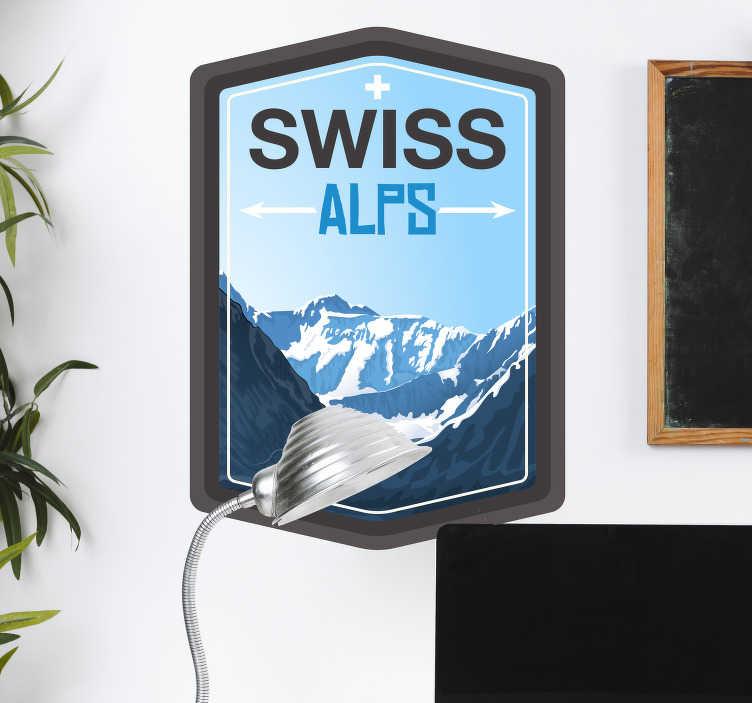 TenStickers. Wandtattoo Jugendzimmer Schweizer Alpen. Können Sie nicht genug von dem Ausblick auf Berge, besonderst die Alpen, haben? Wir auch nicht! Deshalb haben wir ein besonderen Sticker für Sie!