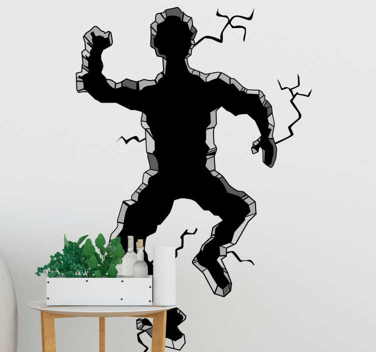 "TenStickers. 3D Man Hole visual effects wall sticker. ""Where did uncle Robert go?"" Give any room in your house some 3D life with this awesome humorous 3D man wall sticker. Choose from over 50 colours!"