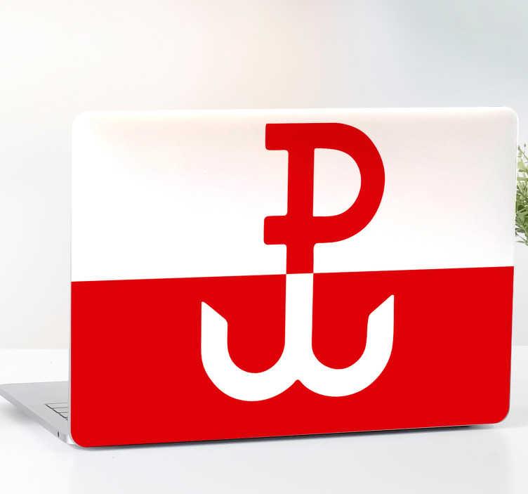 TenStickers. Naklejka na laptopa Polska walcząca. Planujesz ozdobić laptopa w ciekawy sposób? Wykorzystaj naklejki na laptopa z symbolem Polski Walczącej. Sprawdź też inne naklejki patriotyczne.