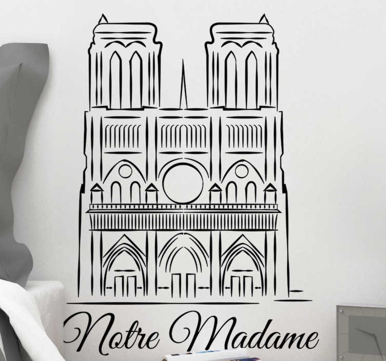 TenStickers. Notre Dame Living Room Wall Decor. Decorate your home by paying tribute to the Notre Dame, which will forever stand as one of the world´s greatest monuments.
