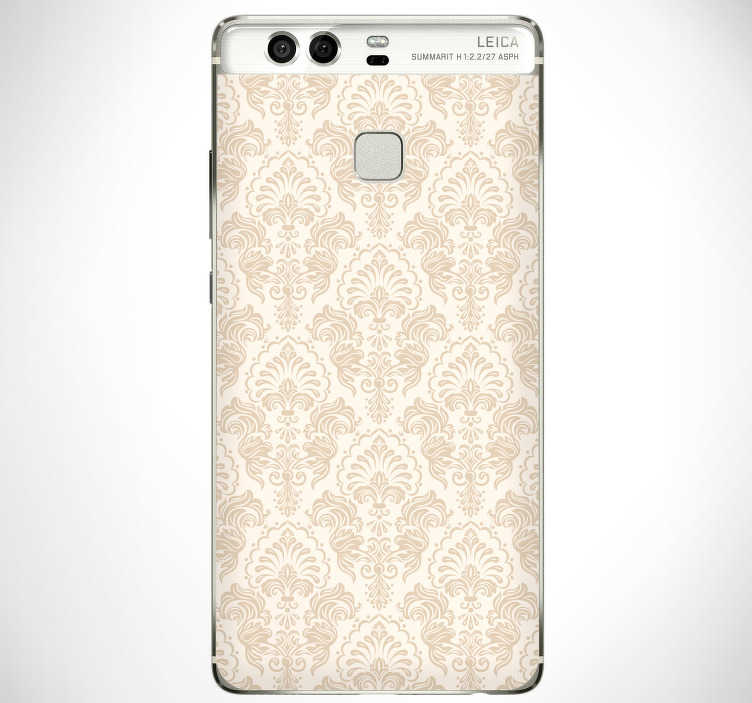 TenStickers. Classic pattern (huawei) stikcer. Classic pattern flower hauwei sticker to decorate the surface of the phone in complete style . Choose the best suitable size model for your phone.