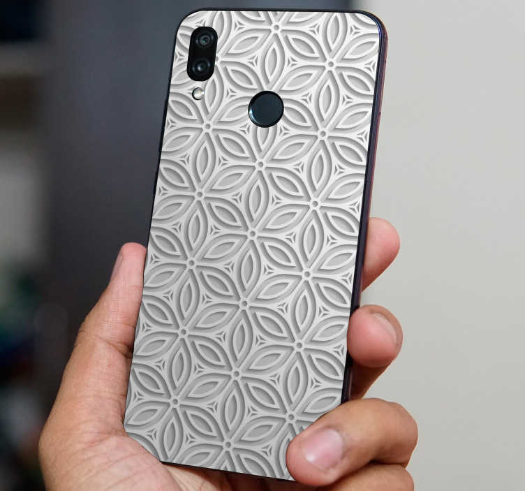 TenStickers. Japanese pattern (huawei) decal. Decorative Japanese huawei vinyl  decal with the design of an original textural abstract pattern to cover the back surface in style.