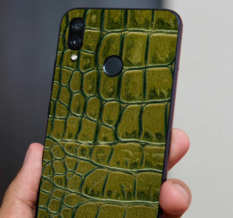 TenStickers. Crocodile Skin Huawei Sticker. Add some crocodile skin to your Huawei with this absolutely superb texture themed phone sticker, specially for Huawei! +10,000 satisfied customers.