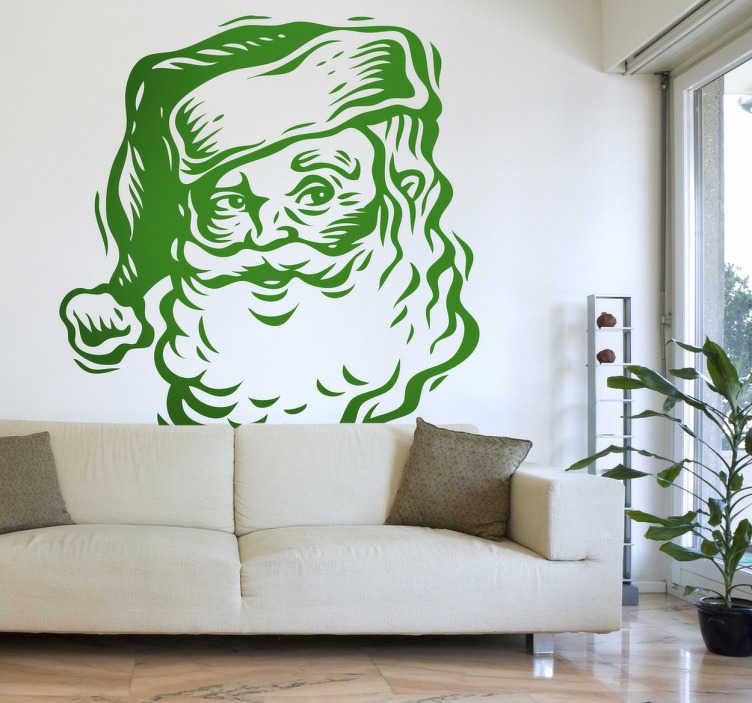 Vinilo decorativo cara Papá Noel