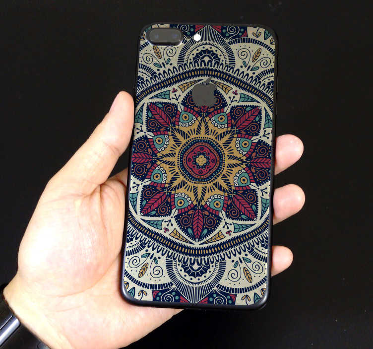 TenStickers. Mandala iPhone Phone Sticker. Decorate your iPhone with this fantastic - and absolutely stunning - phone sticker, depicting a Mandala design! Anti-bubble vinyl.