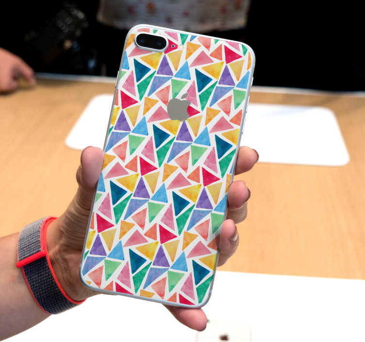 TenStickers. Watercolor mosaic Drawing Sticker. Representing several watercolor mosaic, this drawing sticker will bring a modern touch to your iPhone. Don't hesitate to add some colors in your life.