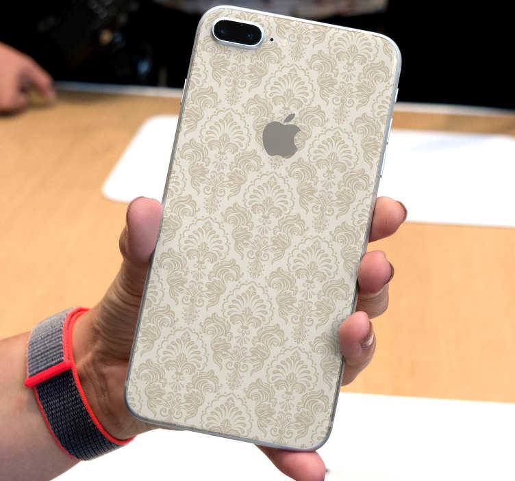 TenStickers. Classic pattern Drawing Sticker. This iPhone sticker is composed by several flowers patterns, in a vintage style. An original sticker to bring a unique touch to your iPhone.