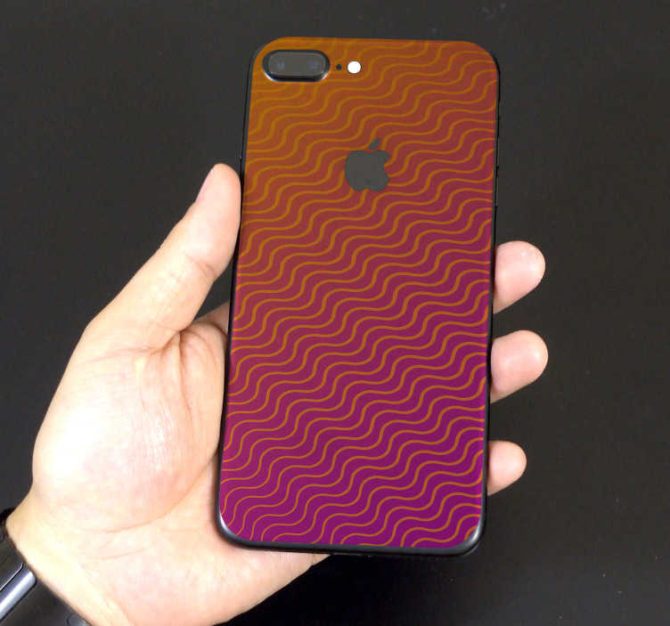TenStickers. Degraded pattern decoration sticker. This iPhone vinyl sticker represents several lines in waves, with a beautiful degraded colour from the top to the bottom of the decal.