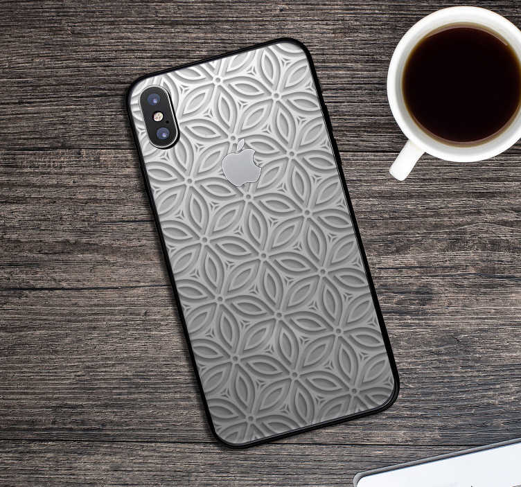 TenStickers. Japanese Patterns sticker. This iPhone sticker represents several patterns, with a japanese inspiration. Embellish your iPhone, it is embellish your daily life !