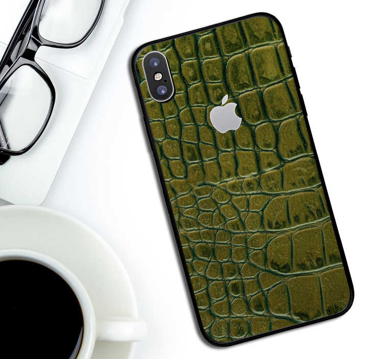 TenStickers. Crocodile Skin iPhone Sticker. Change up the theme of your standard iPhone by adding this superb crocodile textured phone sticker - Anything but standard!
