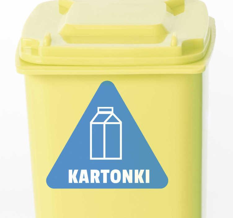 Tenstickers. Pahvi paperi kierrätys vinyyli merkki. Mukava pahvipaperin kierrätys vinyyli merkki teidän bin tai kontti. Kierrätyslaatikot kierrätetään kaikenkokoisina. Pahvi, helppo levittää!