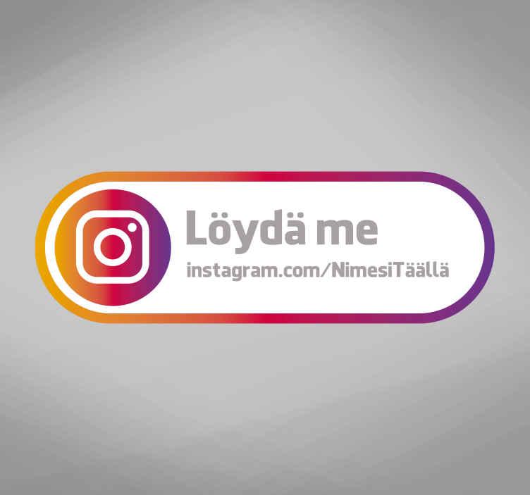 Tenstickers. Seuraa meitä instagram-merkin liiketoiminnan tarroissa. Mukava seurata meitä instagram-myymäläkotelossa! Kokeile instagram-henkilökohtaisen logon tarroja tai instagramia seurataksesi tarraa, jossa on henkilökohtainen tilin linkki.