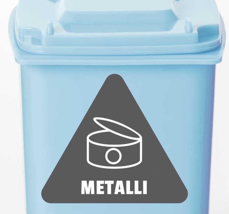 Tenstickers. Metallin kierrätys kotiseinän tarra. Kotiisi tai toimistollesi tämä merkki tarra saa sinusta entistä ympäristöystävällisemmän ja kunnioittavan ympäristöä ja maailmaa.