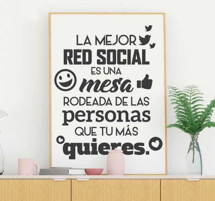 Vinilo Pared La Mejor Red Social