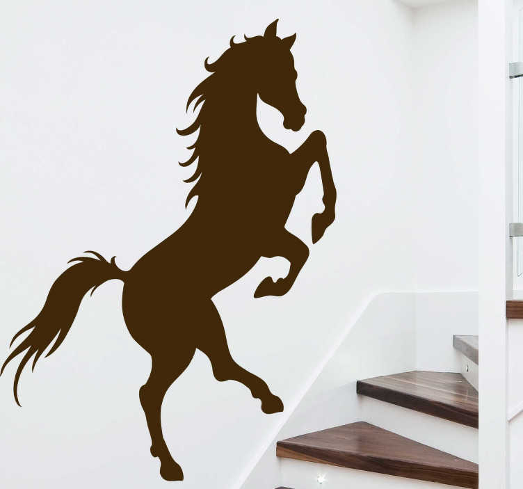 TenStickers. Horse stairs farm animal sticker. Do you love horses ? Then we have the vinyl silhouette decal made for you and for the stairs of your home decoration ! Available in 50 colours.