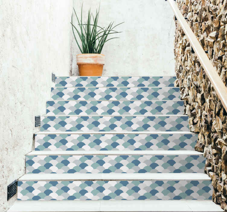 TenStickers. Fish Pattern Stair Stickers. Decorate your stairs with this fantastic selection of fish themed stickers, ideal for that aquatic theme in your home! Zero residue upon removal.