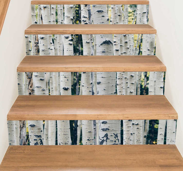 TenStickers. Tree Branches Stairs Stickers. Decorate your stairs with this superb selection of tree branches, thanks to our fantastic tree themed stair stickers! Anti-bubble vinyl.
