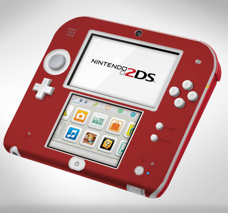 TenStickers. Color (nintendo) nintendo skin decal. Decorative vinyl wrap Nintendo sticker that is created with flat colour texture to beautify a game console in this category.