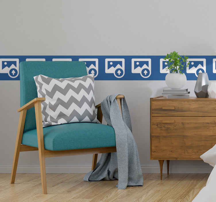 TenStickers. customizable image border border sticker. An image boarder wall sticker to decorate the wall space in the home by creating a fine definition on the space. Choose the size that is suitable.