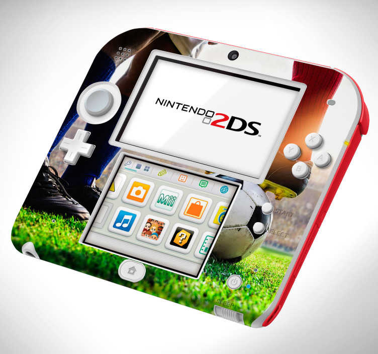 TenStickers. Soccer stadium (3DS XL) nintendo skin decal. Soccer stadium 3D visual effect Nintendo sticker to decorate the surface of this category of a game console. Choose the best size model for you.