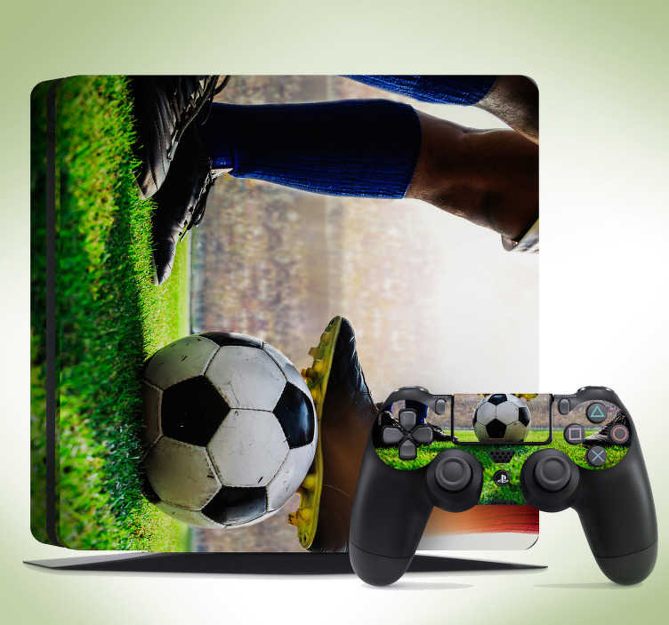 TenStickers. Football stadium (PS4 slim) ps4 decal. 3D visual effect football stadium ps4 sticker to decorate the surface. Choose the best suitable size for the model of your game console.