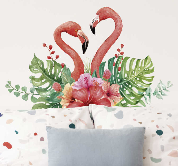 TenStickers. Tropical flamingos Living Room Wall Decor. Give you home some extra natural beauty with this tropical flamingo wall sticker. Choose from a wide range of sizes! International delivery!