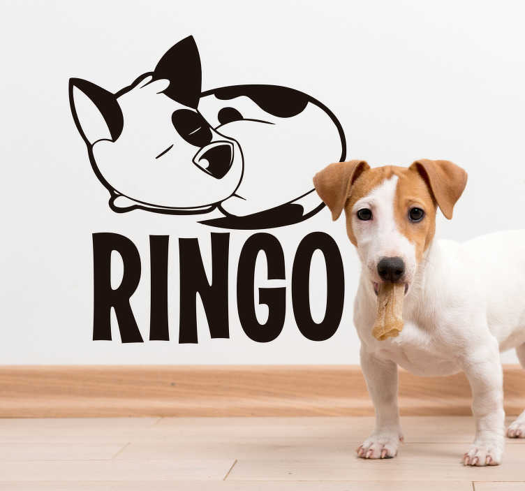 TenStickers. Jack Russel Personalised Sticker. Show the world how much you love your Jack Russel with this personalised Jack Russell wall decal. Choose from over 50 different colours!