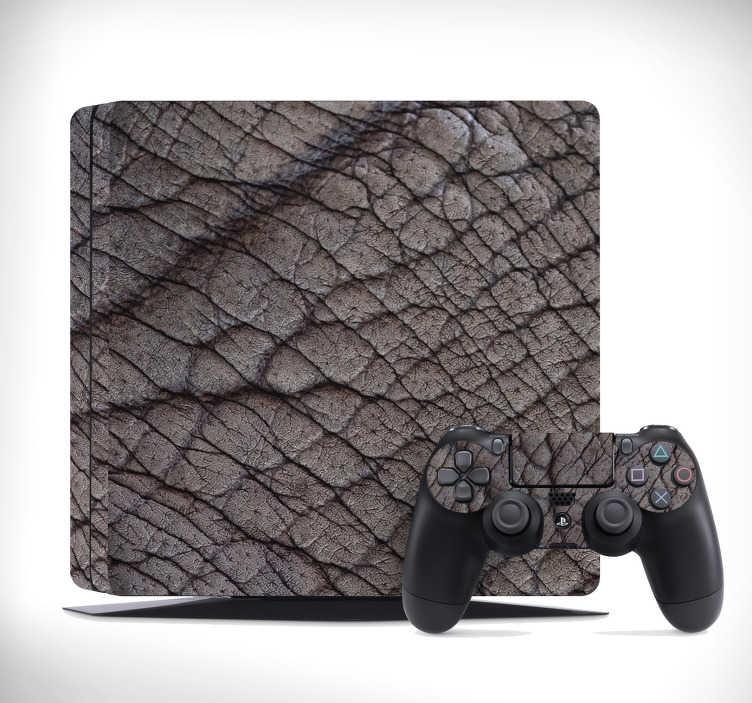 TenVinilo. Vinilo PS4 piel de elefante. Lámina autoadhesiva para decorar tu PS4 con un estampado que simula la piel de un elefante. Fácil aplicación y sin burbujas.