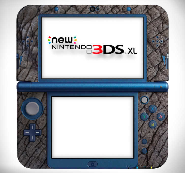 TenStickers. Elephant skin (3DS XL) nintendo skin decal. Decorative elephant skin texture Nintendo vinyl decal to cover the game console in beauty. Choose the model that is a match for your device.