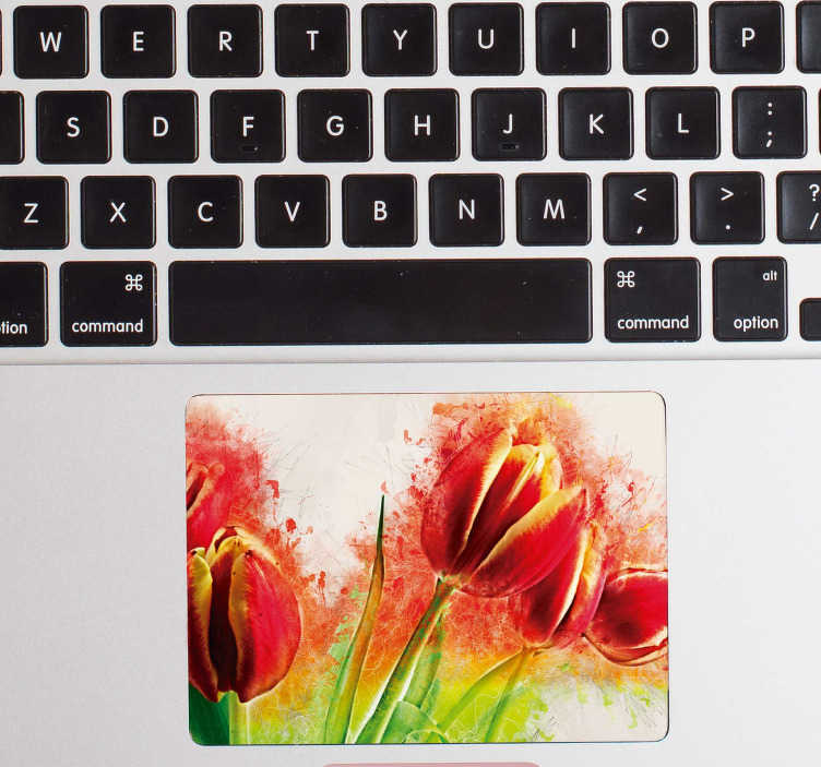 TenStickers. Flower Trackpad Laptop Sticker. Turn even the most boring of laptops into a real work of art with this incredible floral laptop sticker. Worldwide delivery available!