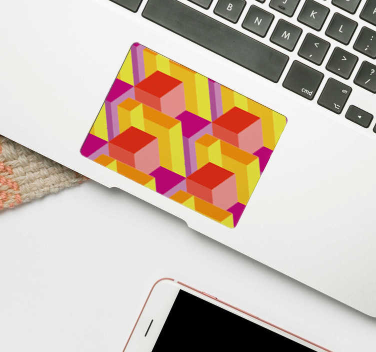 TenStickers. Isometric Trackpad Sticker. Is there a laptop in the world that wouldn't benefit from this incredible isometric pattern laptop sticker? Worldwide delivery available!