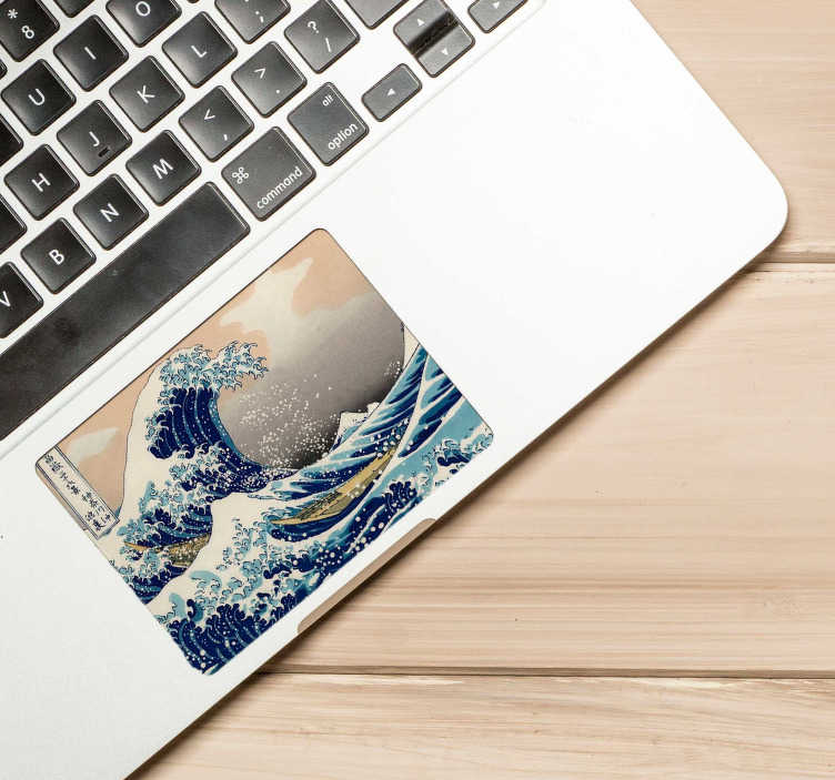 TenStickers. Great Wave Trackpad sticker. Turn your laptop into a work of art with the awesome Great Wave Japanese laptop sticker. Free worldwide delivery available!