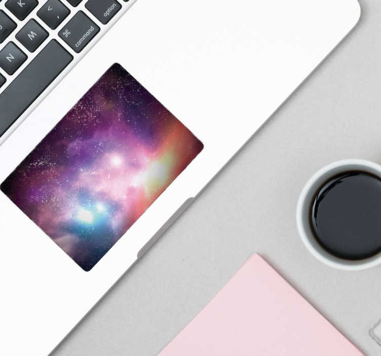 TenStickers. Nebula Trackpad laptop sticker. Stop browsing the internet and start exploring the galaxy with this awesome nebula trackpad laptop sticker. Worldwide delivery available!