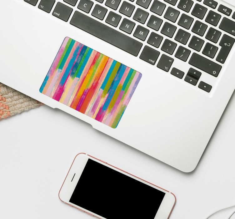 TenStickers. Decor Adhesif Rayures Colorées. Ce sticker PC pour touchpad avec rayures colorées donnera une touche d'originalité et de couleurs à votre ordinateur, peu importe sa marque.