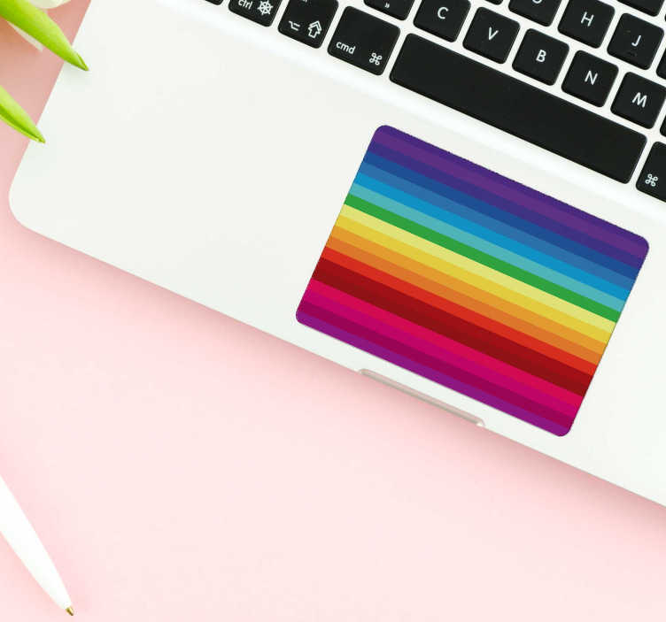 TenStickers. Rainbow Trackpad texture sticker. Turn your laptop into a work of art that still functions perfectly well with this awesome rainbow trackpad laptop sticker. Worldwide delivery!