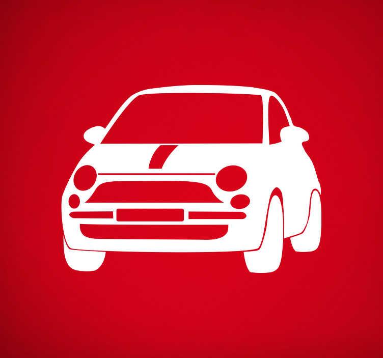 TenStickers. Adesivo di auto Fiat 500. Anche te ami l'iconica Fiat 500?Allora decora qualsiasi superficie con questo adesivo macchina, che presenta la sagoma di una Fiat 500!